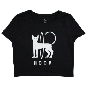 (Black) Hoop Cat Cropped Tee thumb