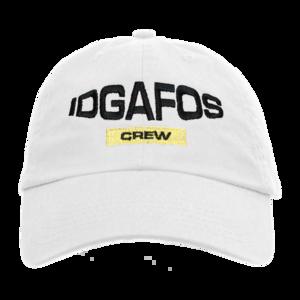 IDGAFOS Crew Dad Hat (White) thumb