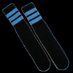 (Black + Baby Blue) Knee High Socks thumb
