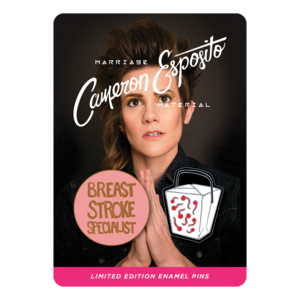 Cameron Esposito: Marriage Material Enamel Pin Set  thumb