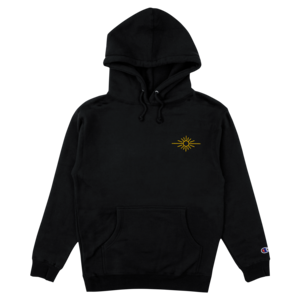 Sun Logo Embroidered Hoodie (Black) thumb