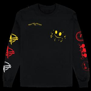 Party Longsleeve (Black) T-Shirt thumb