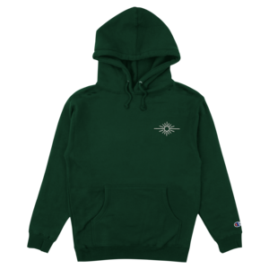 Champion Green Hoodie w/ Embroidered Sun Logo thumb