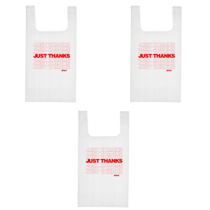 Just Thanks Reusable Bag - 3 Pack thumb