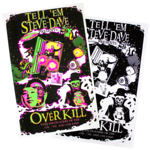 SET OF 2 TESD OVERKILL BLACKLIGHT POSTERS thumb