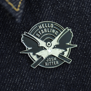 Hello Starling Enamel Pin thumb