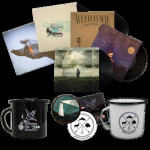 Vinyl LP + Camping Mug + Sticker Set Bundle thumb