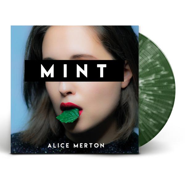 Am vinyl mockup 03 green white