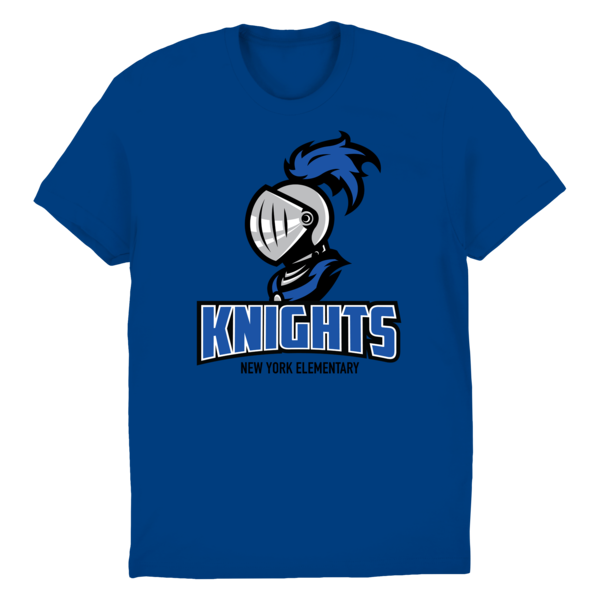Nye knights royalblue tee 2