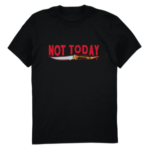 Talk the Thrones: Not Today (Red Version) Tee thumb