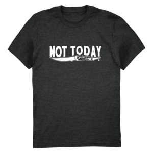Talk the Thrones: Not Today (White Version) Tee thumb