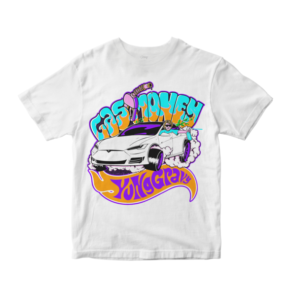 [PRE-ORDER] Gas Money Tee (White) (Ships week of Oct. 23rd, 2020) thumb
