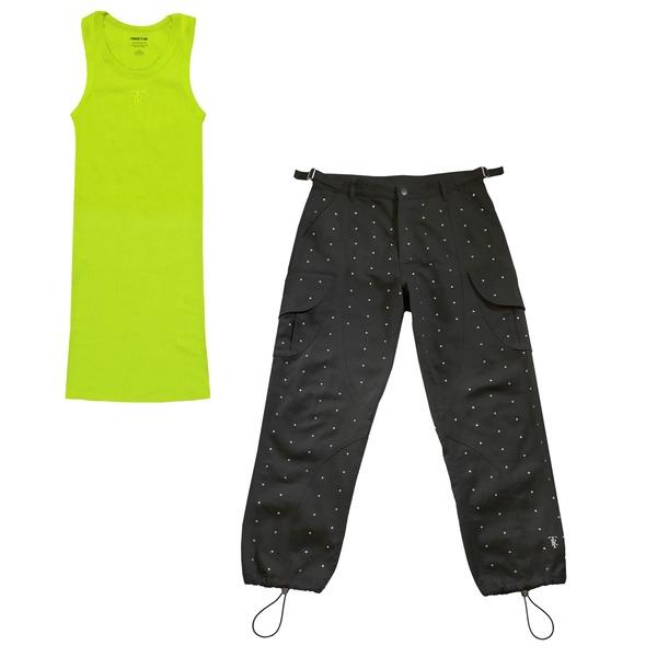 Diamante Black Cargo Pant + Green Reg WP Bundle thumb