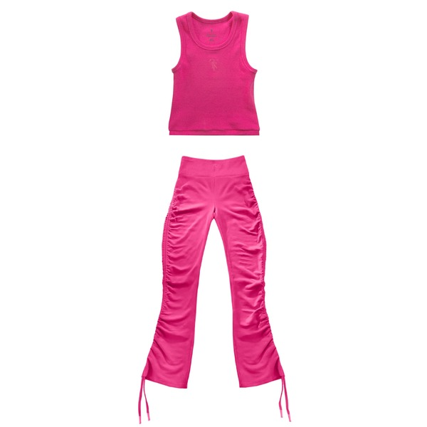 Cropped Wife Protector Pink + Pink Ruched Legging Bundle thumb