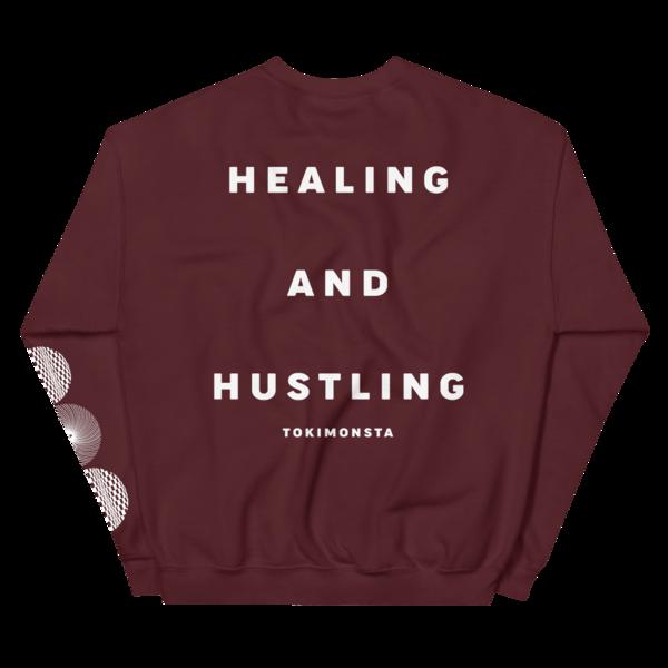 Healing and Hustling Crewneck (Maroon) thumb