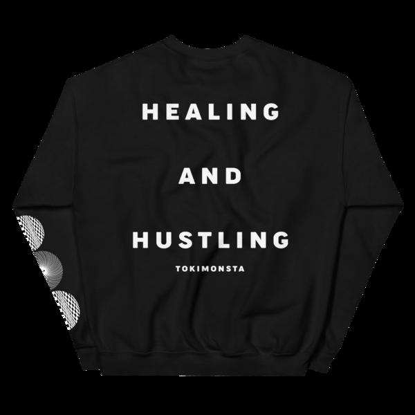 Healing and Hustling Crewneck (Black) thumb