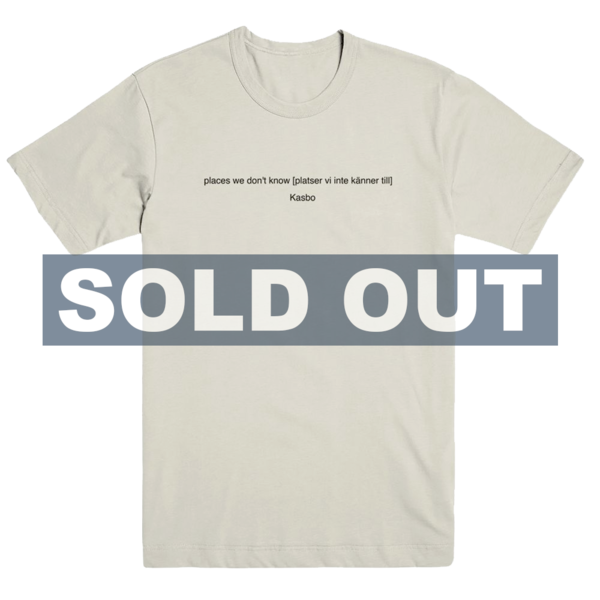 Places We Don't Know T-Shirt (Beige) thumb