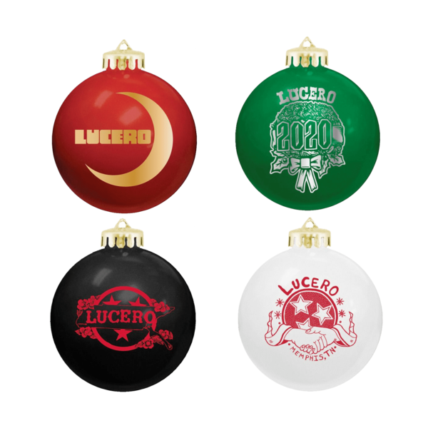 [PRE-ORDER] Set of 4: Holday Globe Ornaments (Ships week of Dec. 14th, 2020) thumb
