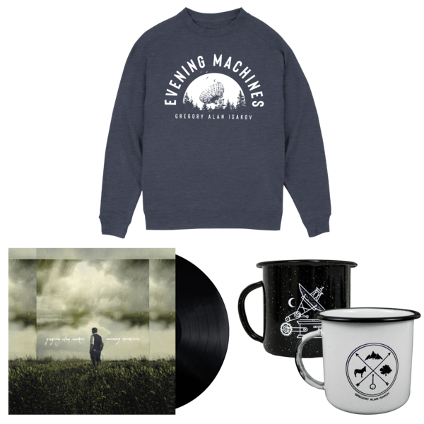 Satellite Sweatshirt + Evening Machines LP + Camping Mug thumb