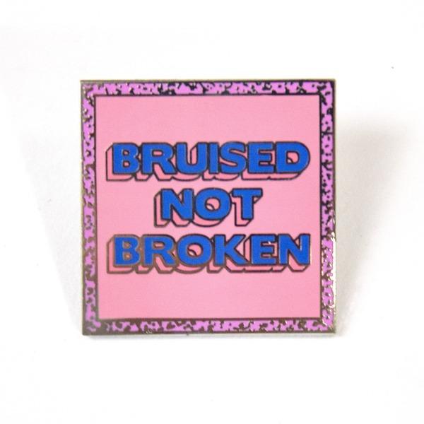 'Bruised Not Broken' Pin thumb
