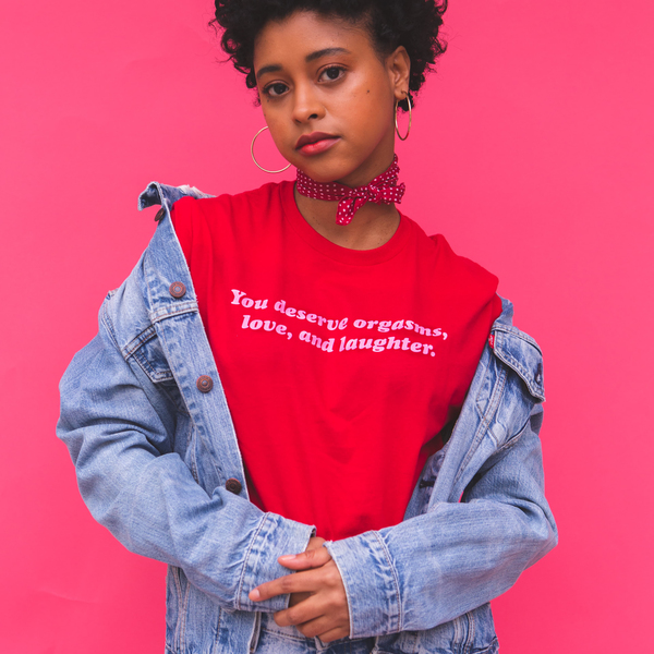 [PRE-ORDER] You Deserve Tee (Red) (Ships week of Feb. 19th, 2021) thumb