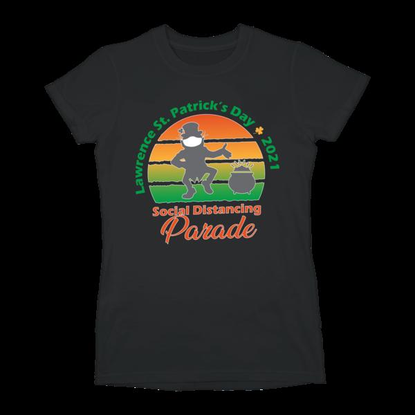 [PRE-ORDER] 2021 St. Patrick's Day Parade Slim Fit Ladies T-Shirt (Ships week of Mar. 12th, 2021) thumb