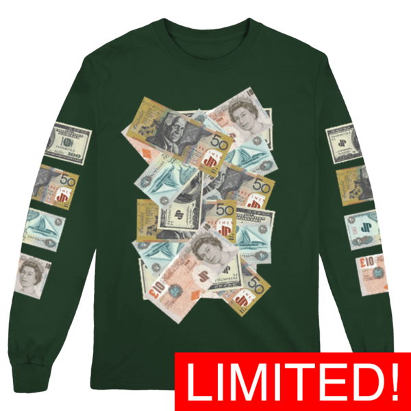 COVERED IN MONEY! Longsleeve thumb