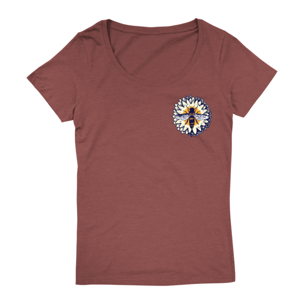 Bees Circle Ladies Tee (Clay) thumb
