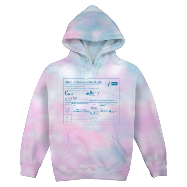 [PRE-ORDER] Fauci Tie-Dye Hoodie (Cotton Candy) (Ships week of Apr. 23rd, 2021) thumb