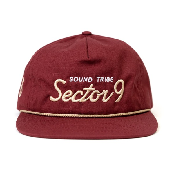 Frequencies Peace Hat (Dark Red) thumb