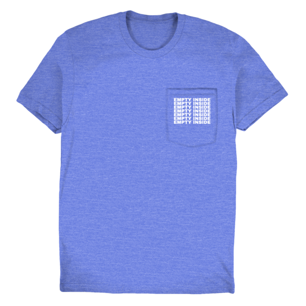 [PRE-ORDER] Stacked Logo Pocket Tee (Blue) (Ships week of Jul. 9th, 2021) thumb