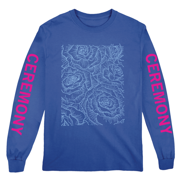 [PRE-ORDER] Ceremony Floral Longsleeve (Royal Blue) (Ships week of Aug. 27th, 2021) thumb