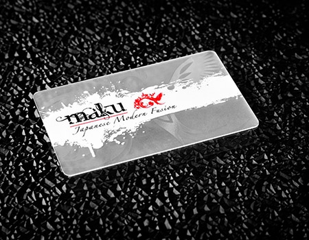 30mil FROSTED Plastic Business Cards