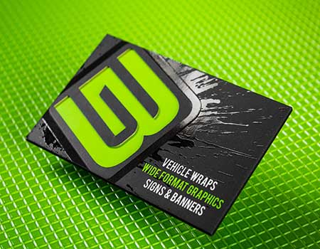 32PT Custom Die Cut | Spot UV Business Cards