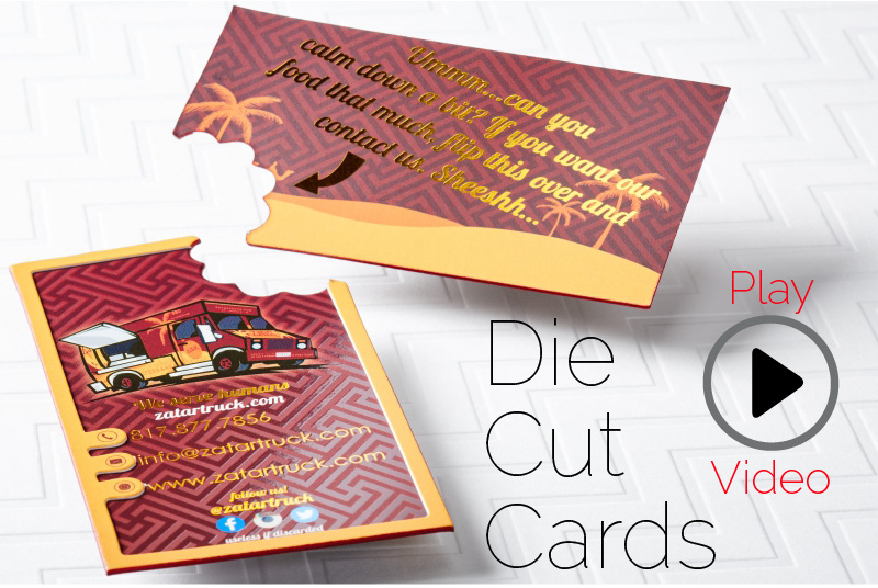 Die cut business cards give shape to your first impression ultra thick silk business card with die cut and colored edges colourmoves