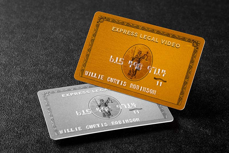 30mil silver and gold pearlescent plastic cards with embossed numbering and foil - Custom Plastic Cards