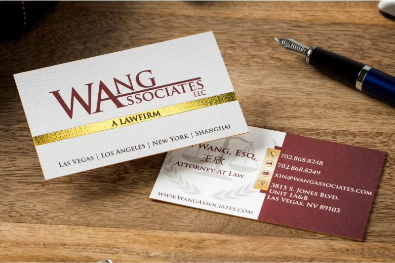 Thick business cards luxury customized double layered thick linen business card with gold foil and gold colored edges reheart Choice Image