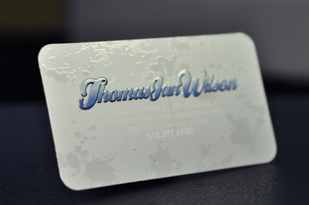 Metallic ink business cards stand out under the spotlight metallic ink business cards colourmoves