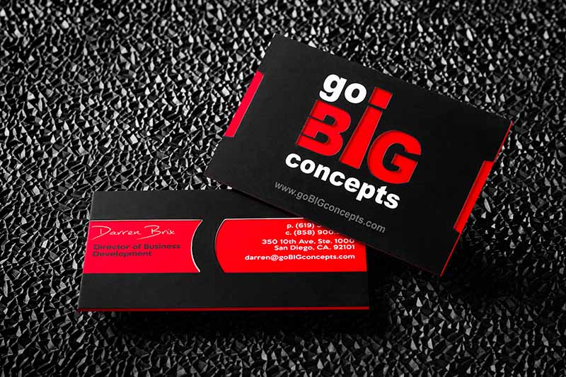 Ultra thick business cards a solid presence among your competition ultra thick letterpress business cards with debossing and colored edges reheart Choice Image
