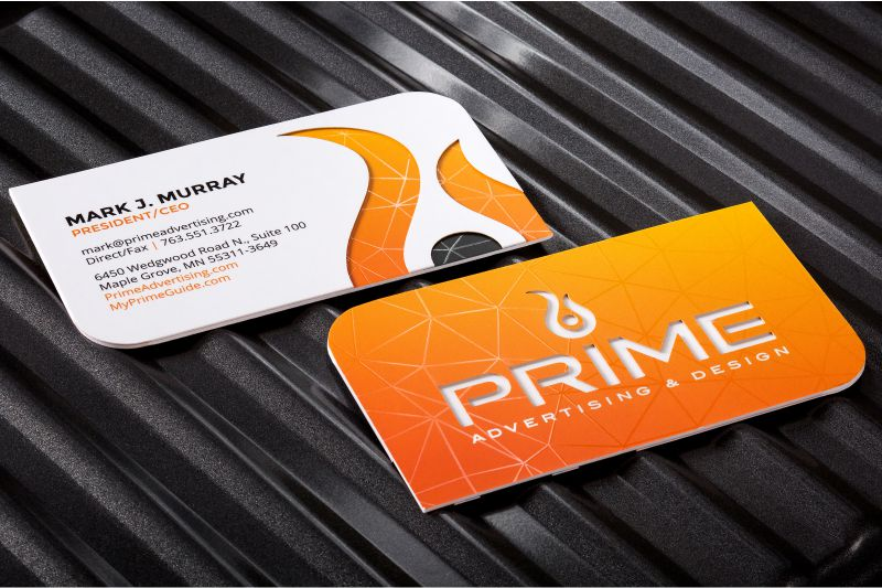 Ultra thick business cards a solid presence among your ultra thick silk business cards with die cut and spot uv reheart Gallery