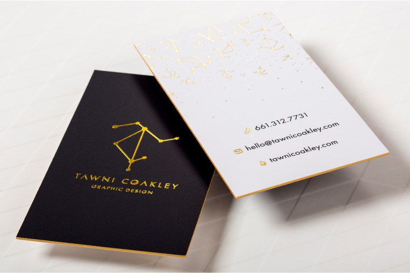 Ultra thick business cards a solid presence among your competition ultra thick silk business cards with gold foil and gold colored edges reheart Gallery