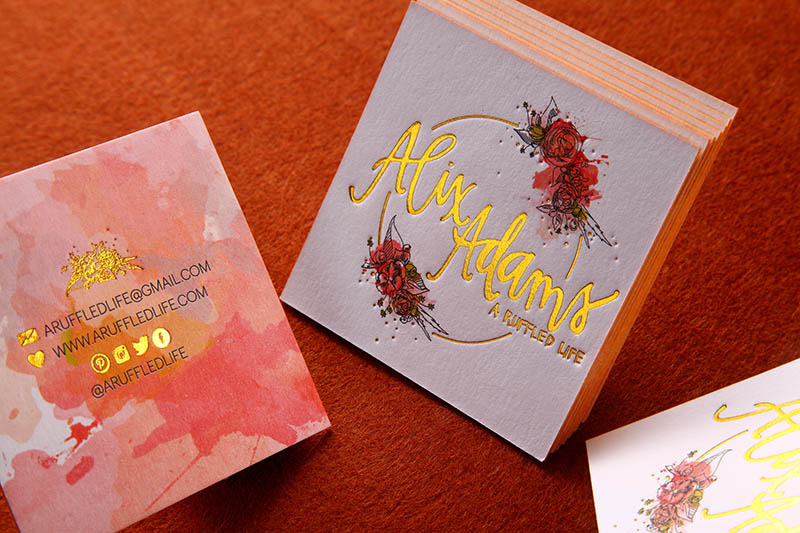 Letterpress Business Cards - An Elegant Old World Look | 4ColorPrint