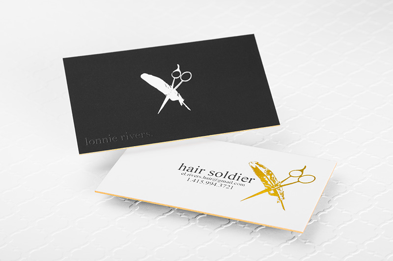 Suede laminated business cards sophisticated elegance 4colorprint suede laminated business cards suede x with embossing gold and silver foil and gold edging reheart Gallery