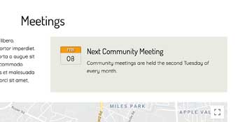 Homeowners Association WordPress Theme - Community Meetings