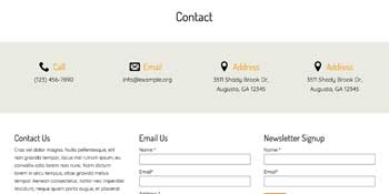 Homeowners Association WordPress Theme - Contact Information