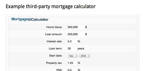 Mortgage Broker WordPress Theme - Mortgage calculator