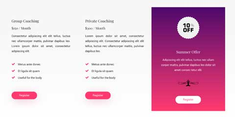 Yoga Instructor Astra Starter Site - Classes detail page