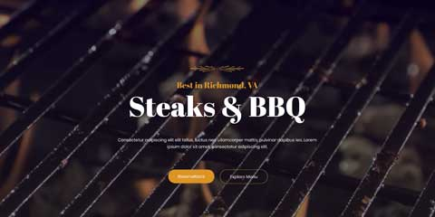 BBQ Restaurant Astra Starter Site - Video Background