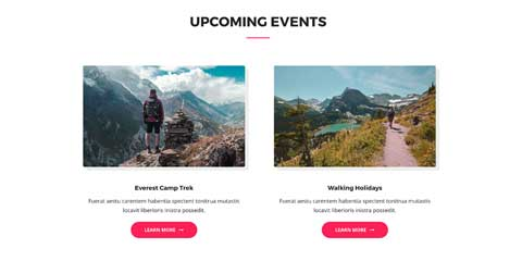 Outdoor Astra Starter Site - Events calendar