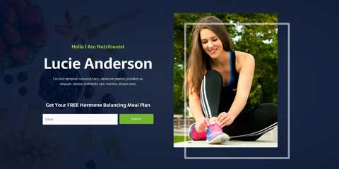Nutritionist Astra Elementor Starter Site - Visible call-to-actions